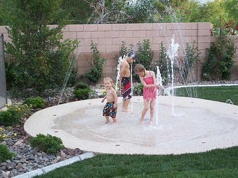 backyard splash pads extreme backyard ideas